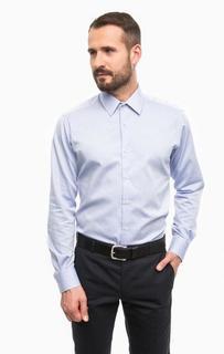 Синяя хлопковая рубашка с длинными рукавами Lagerfeld