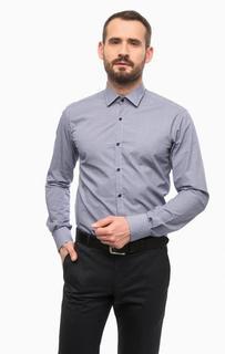 Синяя хлопковая рубашка Lagerfeld