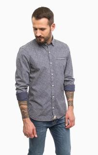 Хлопковая рубашка с длинными рукавами Pierre Cardin
