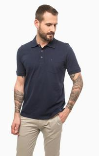 Синяя футболка поло из хлопка Pierre Cardin