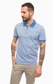Синяя футболка поло с карманом Pierre Cardin