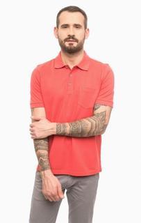 Хлопковая футболка поло с карманом Pierre Cardin