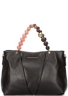 Темно-коричневая кожаная сумка с двумя ручками Roberta Gandolfi