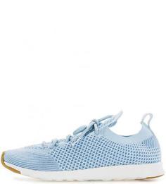 Голубые текстильные кроссовки на шнуровке Native