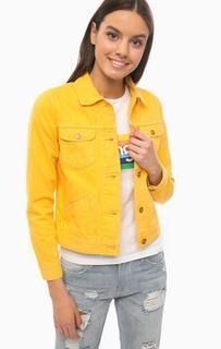 Желтая джинсовая куртка Wrangler