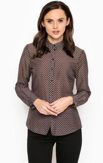 Блуза из хлопка и шелка с отложным воротником More & More