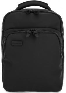 Черный рюкзак с отделениями для ноутбука и планшета Mandarina Duck