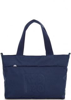 Синяя текстильная сумка на молнии Mandarina Duck