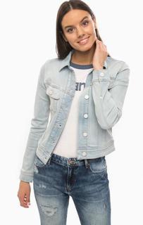 Синяя джинсовая куртка на болтах Lee