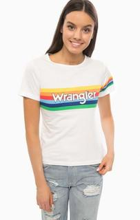 Хлопковая футболка с ярким принтом Wrangler