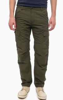 Хлопковые брюки цвета хаки Carhartt WIP