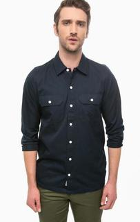 Хлопковая рубашка синего цвета Carhartt WIP