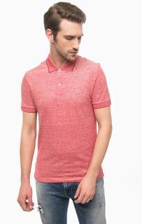 Красная футболка поло с короткими рукавами Lacoste