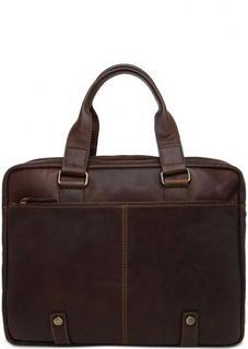 Кожаная сумка с двумя отделами на молниях Gianni Conti