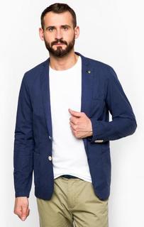 Синий пиджак из хлопка Scotch&Soda