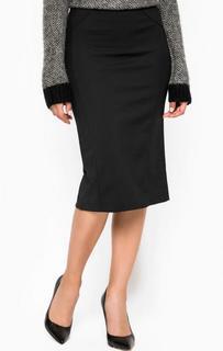 Черная юбка с двумя разрезами Patrizia Pepe