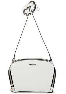 Белая сумка из глянцевой кожи через плечо Fiato