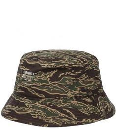 Шляпа-панама из хлопка с камуфляжным принтом Carhartt WIP