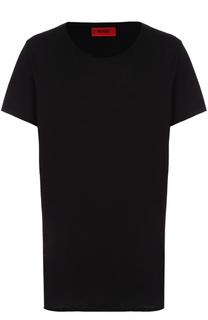 Удлиненная хлопковая футболка HUGO