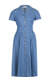 Джинсовое платье-рубашка с поясом Weill