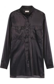 Полупрозрачная блуза с накладными карманами Dries Van Noten