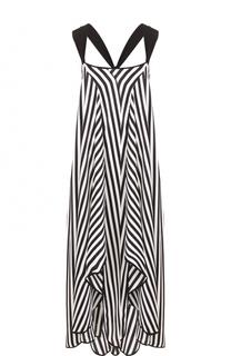 Шелковое платье-макси в полоску By Malene Birger