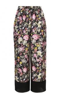 Укороченные шелковые брюки с цветочным принтом 3.1 Phillip Lim