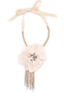 Колье с подвеской-цветком Lanvin
