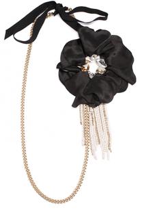 Колье с цветочным декором Lanvin