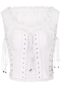 Топ с открытыми плечами и шнуровкой Dolce & Gabbana