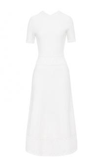 Вязаное платье-миди с коротким рукавом Ralph Lauren