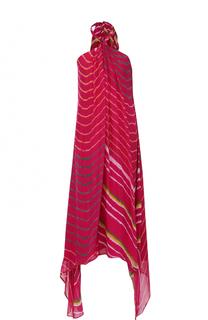 Шелковое платье-миди асимметричного роя Polo Ralph Lauren