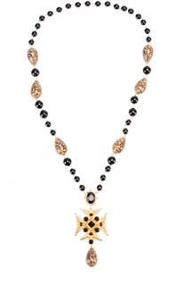 Колье с бусинами и кристаллами Swarovski Dolce & Gabbana