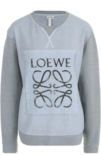 Свитшот свободного кроя с логотипом бренда Loewe