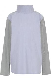 Блуза прямого кроя с воротником-стойкой Tome