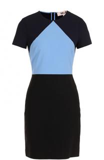 Приталенное мини-платье с круглым вырезом Diane Von Furstenberg