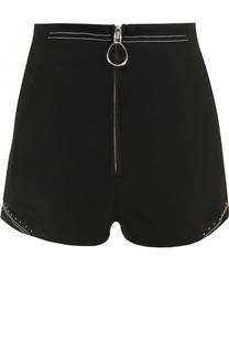 Мини-шорты с завышенной талией и контрастной отделкой 3.1 Phillip Lim
