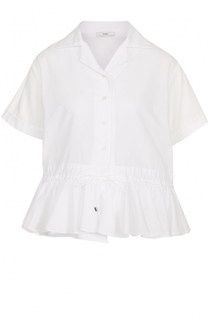 Блуза с коротким рукавом с баской Tome