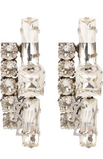 Набор серёг-клипс с кристаллами Saint Laurent
