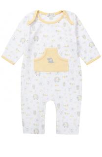Хлопковая пижама с принтом и накладным карманом Kissy Kissy