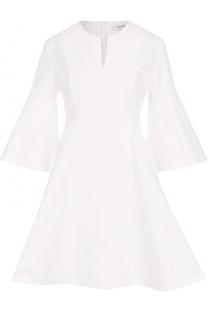 Приталенное мини-платье с расклешенными рукавами Carven