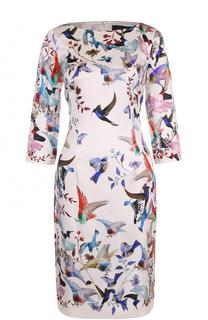 Шелковое платье с ярким принтом St. John