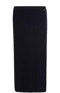 Вязаная плиссированная юбка-миди St. John