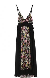 Шелковое платье с цветочными вставками 3.1 Phillip Lim