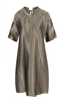 Платье прямого кроя с V-образным вырезом Nina Ricci