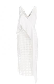 Кружевное платье-миди асимметричного кроя Diane Von Furstenberg