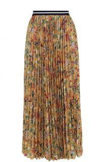 Плиссированная юбка-макси с цветочным принтом Stella Jean