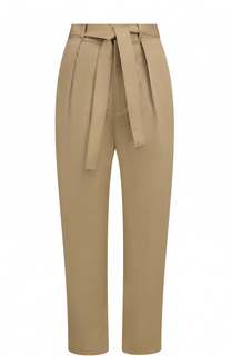 Укороченные брюки с защипами и поясом Polo Ralph Lauren