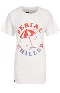 Удлиненная хлопковая футболка с принтом Dedicated