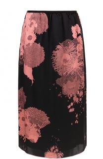 Шелковая юбка-миди с принтом Dries Van Noten